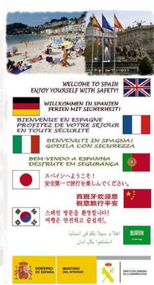 """Welcome to Spain, enjoy yourself with safety!"