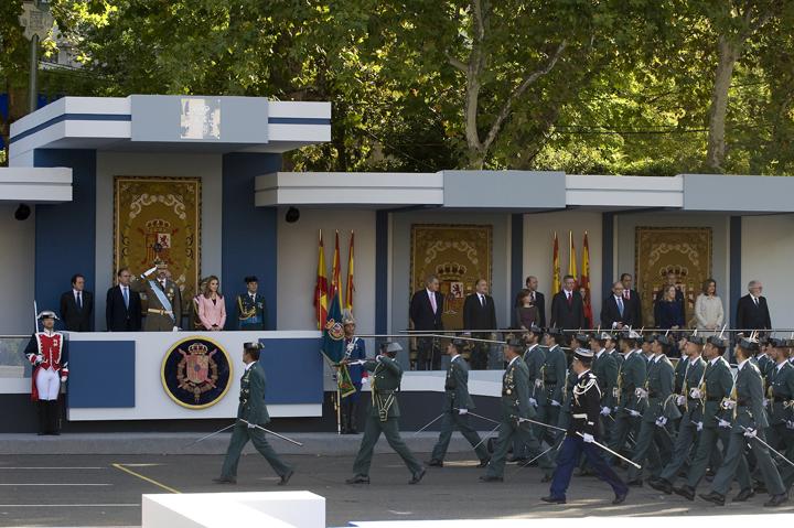 La Guardia Civil participa en el desfile de la Fiesta Nacional