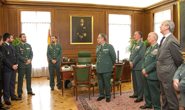 El Director General recibe a los integrantes de la Guardia Civil del XVII Curso de Estado Mayor de las Fuerzas Armadas