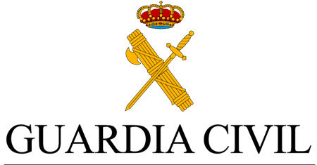"Emblema de la Guardia Civil y texto ""Guardia Civil\"""