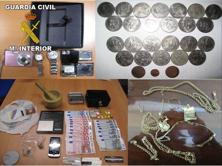 La Guardia Civil desarticula una organización especializada en robos en viviendas