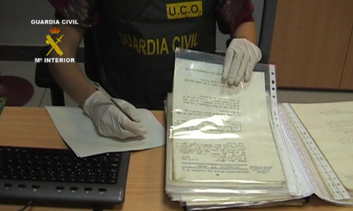 La Guardia Civil recupera documentos históricos de un Regimiento que luchó en la Guerra de la Independencia española
