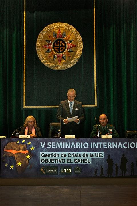 """El Director General de la Guardia Civil inaugura el V Seminario Internacional """"Gestión de crisis de la UE"""