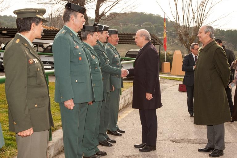El ministro del interior jorge fern ndez d az visita la for Ministerio del interior 26j