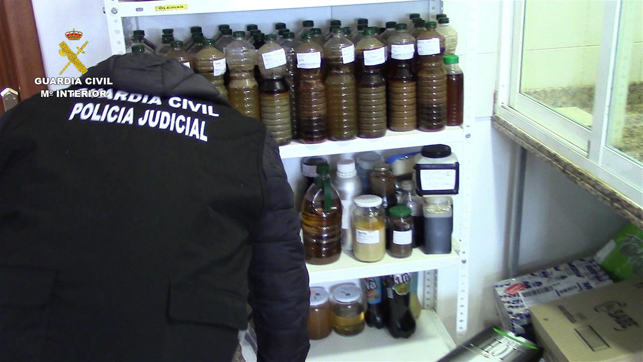 La Guardia Civil interviene más de 120 toneladas de aceite de girasol, palma y aguacate que iban a ser distribuidos como aceite de oliva