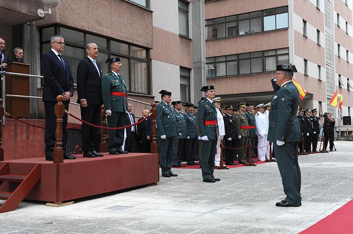 El Director General de la Guardia Civil preside el acto de toma de posesión del nuevo General Jefe de la Zona de Galicia