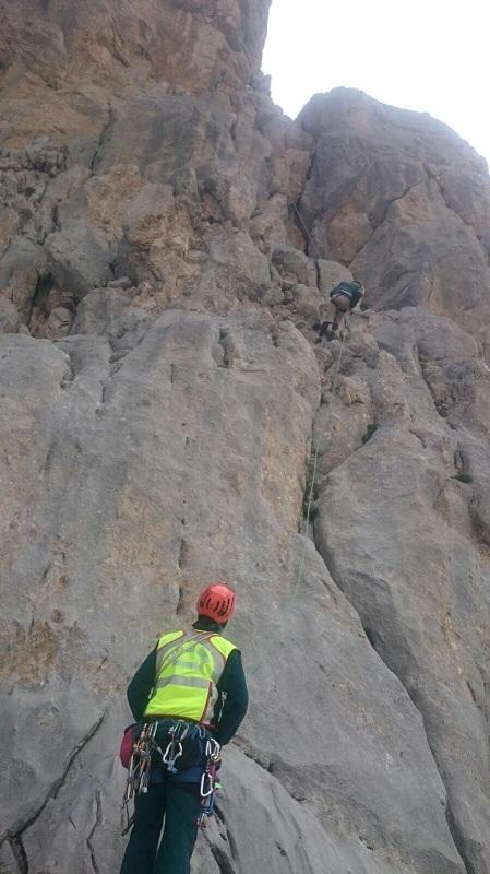Especialistas del Servicio de Montaña de la Guardia Civil rescatan a dos personas en los Picos de Europa tras más de 13 horas de intervención
