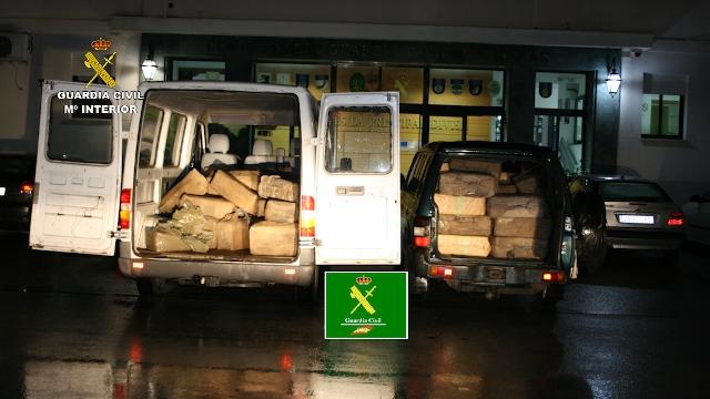 La Guardia Civil incauta más de 3 toneladas de hachís enterrados en una finca rural
