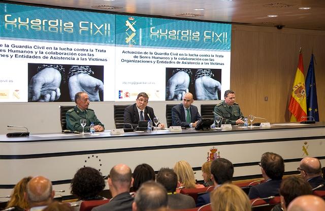La Guardia Civil liberó en 2016 a 257 víctimas de trata en 72 operaciones realizadas