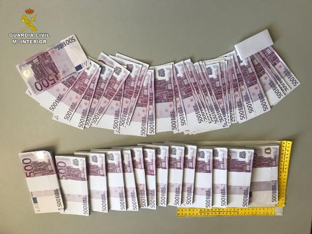 La Guardia Civil detiene a 3 personas cuando pretendían cometer una estafa mediante el método