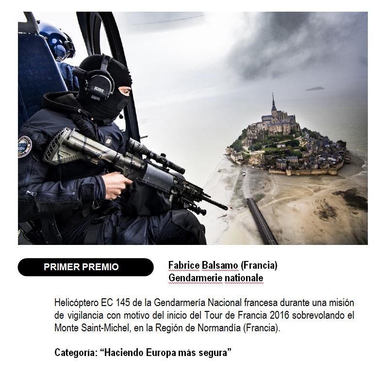 La Guardia Civil galardonada con el segundo premio del Concurso Internacional de Fotografía 2017 de EUROPOL de Fuerzas y Cuerpos de Seguridad