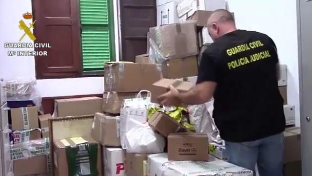 La Guardia Civil desmantela una red dedicada a la importación y comercialización de medicamentos, anabolizantes y sustancias prohibidas en el deporte