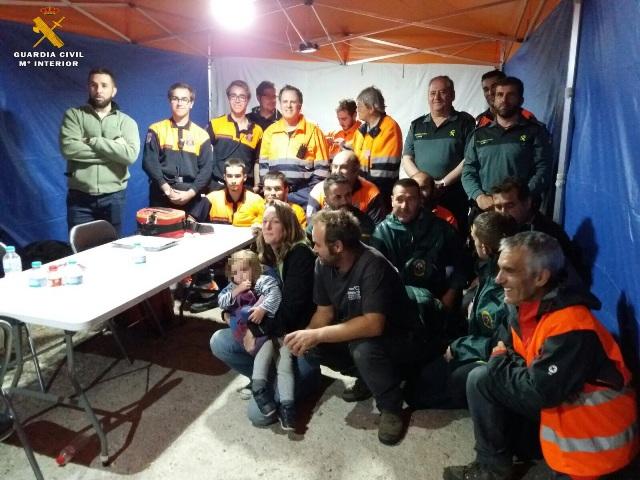 La Guardia Civil localiza una niña de 2 años desaparecida durante siete horas en la localidad de Gil García (Ávila)