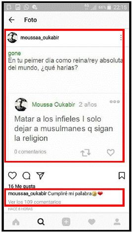 La Guardia Civil investiga a una persona por realizar comentarios humillantes a través de redes sociales contra las víctimas de los atentados de Cataluña