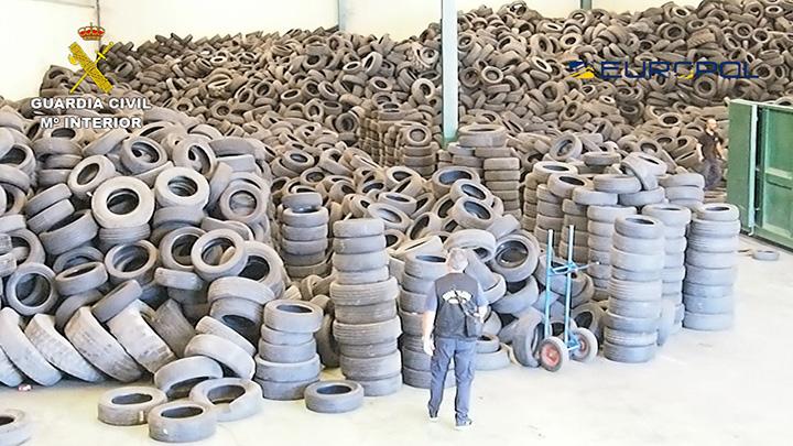Desmantelado un grupo criminal que operaba ilegalmente con neumáticos usados en varios países de Europa, África y América