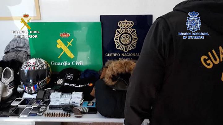 Desarticulado un grupo criminal dedicado al robo con violencia e intimidación que actuaba en la provincia de Málaga