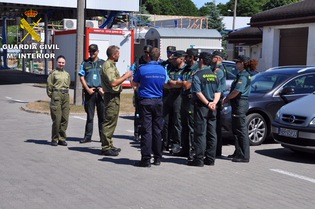 La Guardia Civil participa en los controles fronterizos en Polonia con motivo del mundial FIFA 2018