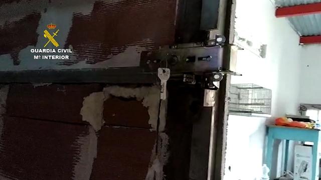 """La Guardia Civil interviene más de 3 toneladas de hachís en una """"guardería"""" en La Línea de la Concepción (Cádiz)"""