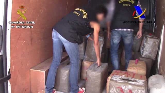 Desarticulada una organización criminal dedicada a distribuir hachís y marihuana en varios países de Europa