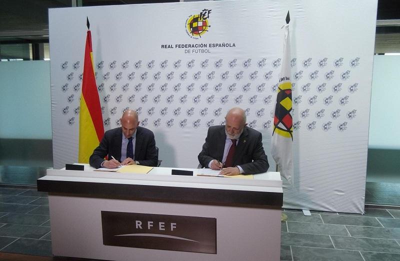 La Guardia Civil y la RFEF establecen un Protocolo de colaboración en materia de seguridad e integridad en los partidos de fútbol