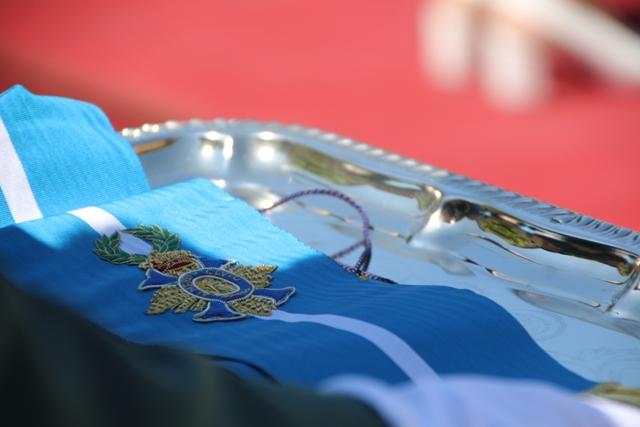 Imposición de la Corbata de la Orden del Mérito de Civil a la bandera de la 8ª Zona de la Guardia Civil de Aragón