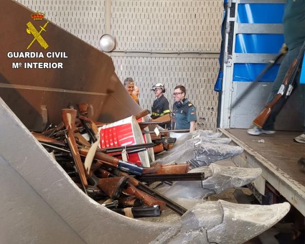 La Guardia Civil destruye más de 50.000 armas de fuego durante el pasado año