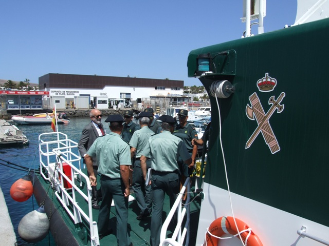 El Director General se reúne con los responsables de la Guardia Civil en Lanzarote y Fuerteventura