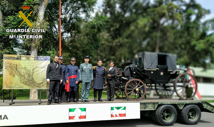 Por primera vez una delegación de la Guardia Civil participa en el desfile del CCIX Aniversario del Inicio del Movimiento de Independencia de México
