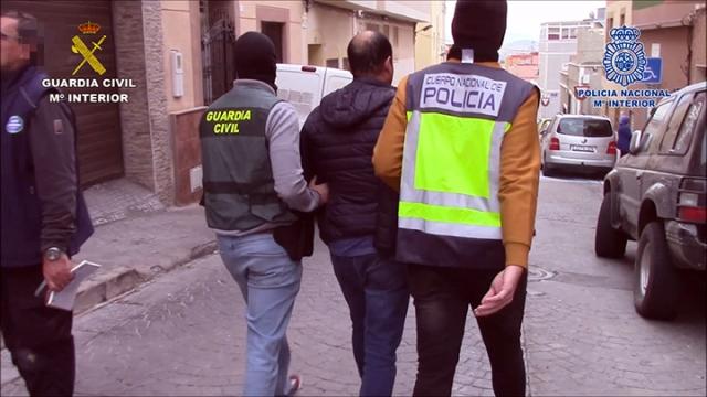 La Guardia Civil y la Policía Nacional desarticulan un importante entramado delictivo dedicado al tráfico de hachís en Melilla