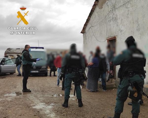 La Guardia Civil desarticula en Zamora una red dedicada a la trata de seres humanos con fines de explotación laboral