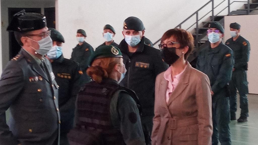 La Directora General de la Guardia Civil se reúne con los responsables de la Guardia Civil en La Rioja y de la Unidad de Acción Rural