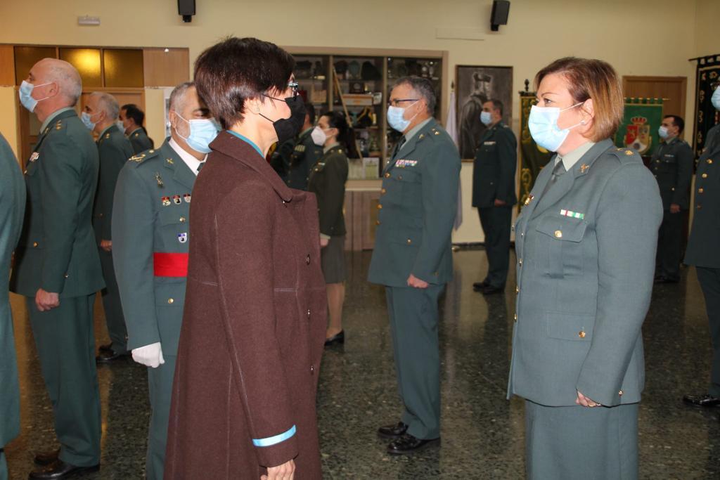 La Directora General de la Guardia Civil, María Gámez, visita los terrenos donde se ubicará la futura Comandancia de Zaragoza