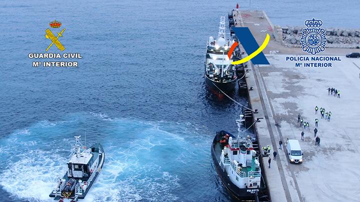 Incautadas más de siete toneladas de hachís durante un nuevo golpe al narcotráfico internacional del Campo de Gibraltar