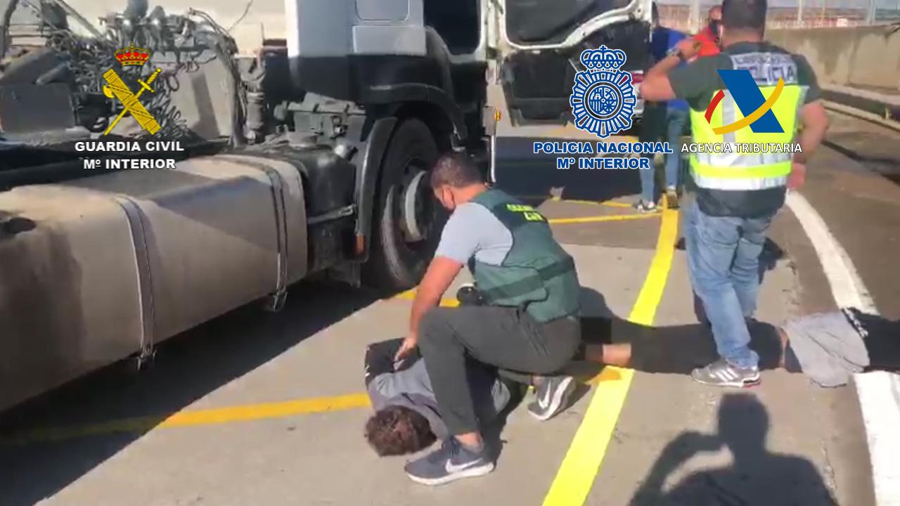 Intervenidos 450 kilos de cocaína en un contenedor con origen en Brasil