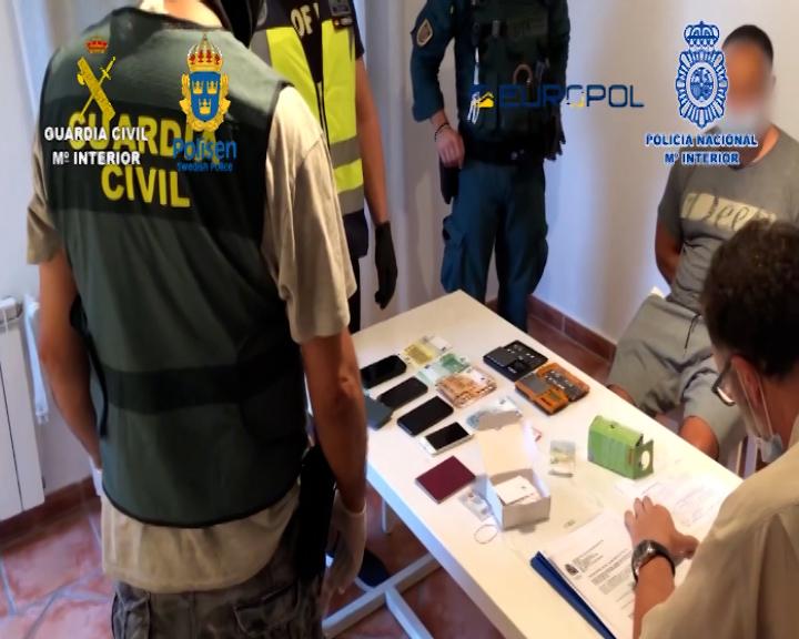 Detenidas 71 personas como miembros de una amplia red de narcotraficantes que operaba entre España y Suecia