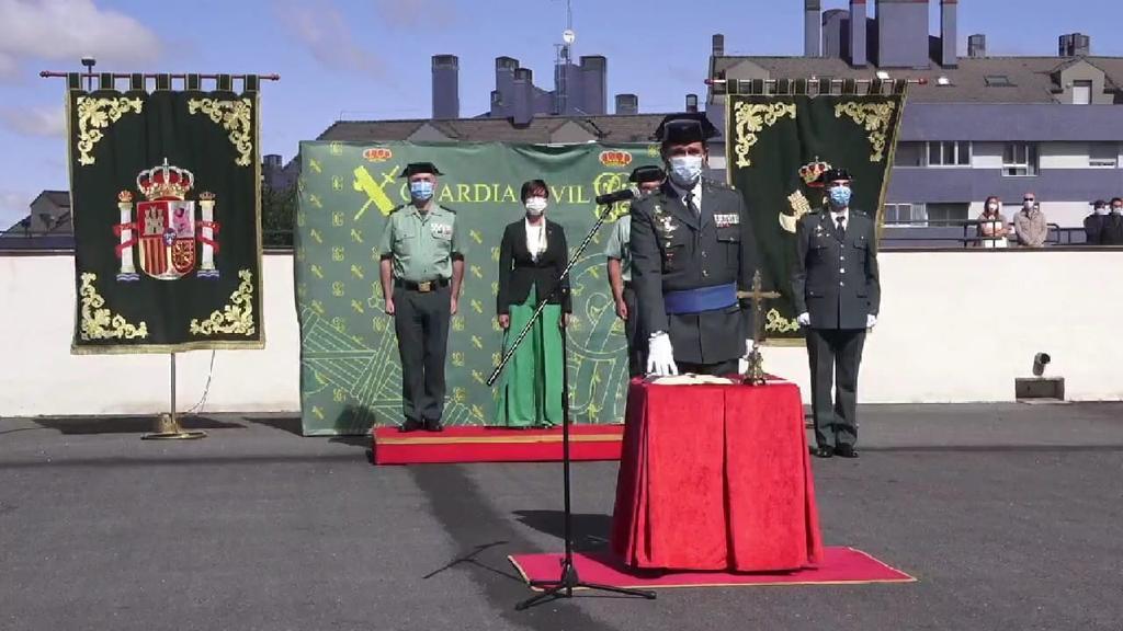 La directora general de la Guardia Civil preside la toma de posesión del nuevo jefe de la Comandancia de Ávila