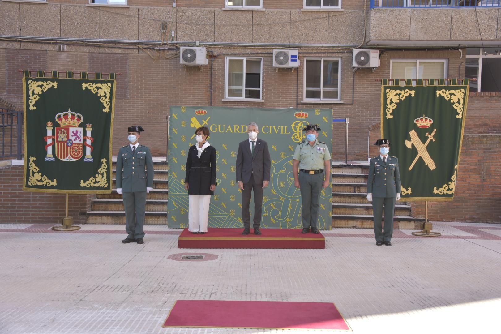 Grande-Marlaska preside la toma de posesión de la nueva jefa de la Comandancia de la Guardia Civil en Guadalajara