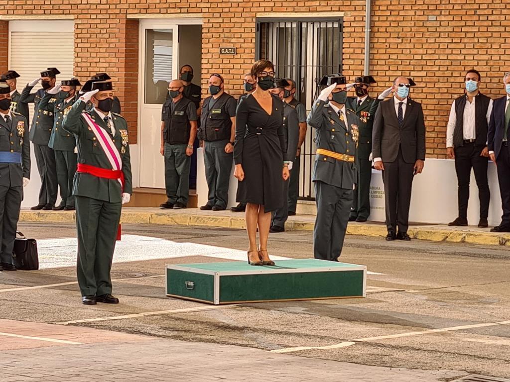 La directora general de la Guardia Civil preside los actos de celebración de la Patrona del Cuerpo en Málaga