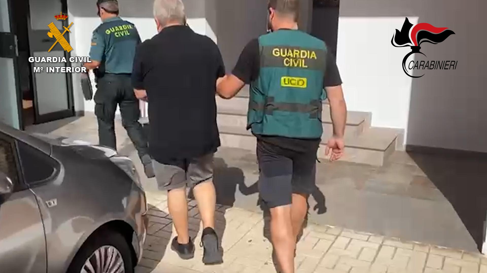 La Guardia Civil detiene en Málaga a un huido de las autoridades italianas con importantes vínculos con la N´Drangheta