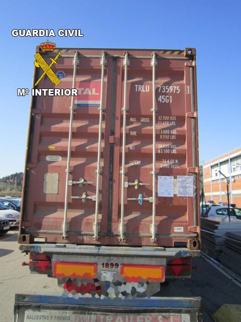 La Guardia Civil interviene 708 kilos de cocaína en un contenedor que transportaba cocos