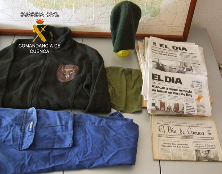 La Guardia Civil detiene al presunto autor de tres atracos a bancos
